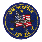 USS Cities Patches - USS Norfolk W01S49A