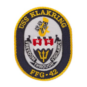 USS Rope Border Logo Patches - USS Klakring W01S49E
