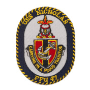 USS Rope Border Logo Patches - USS Nicholas W01S49E