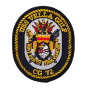 USS Rope Border Patches - USS Vella Gulf W01S42E