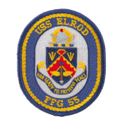USS Solid Border Patches - USS Elrod W01S49D