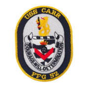 USS Twisted Rope Patches - USS Carr W01S49B
