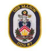 USS Twisted Rope Patches - USS Mason W01S49B