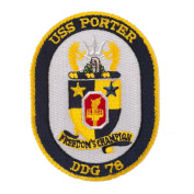 USS Twisted Rope Patches - USS Porter W01S49B
