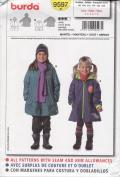 Burda Sewing Pattern 9597 for Girl's Coat, Sizes 3 - 8