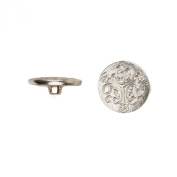 C & C Metal Products 5028 Triple Curl Metal Button, Size 30 Ligne, Nickel, 36-Pack