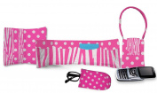 Daisy Kingdom Easy Cut and Sew Accessory Kit, Pink Zebra Stripe