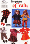 Simplicity 9054 ~ Doll Clothes for 50cm , 60cm , 60cm ~ Wardrobe for Doll Sewing Pattern