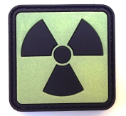 Atomic Glow in the Dark PVC hook and loop IFF Patch - Green 20mm