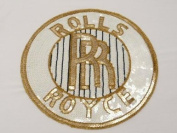 Large ROLLS ROYCE Sequin Applique Sewing Patch 29cm X 29cm diameter fashion apparel CAR LOGO FOR MENS JACKET WOMANS JACKET /T-SHIRT /AND SHIRT/ HOODIES/ denim JACKETS and more.