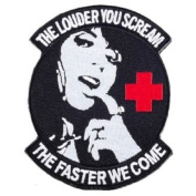 "Matrix PVC hook and loop IFF Patch - ""Scream Faster"" Medic Morale Patch"