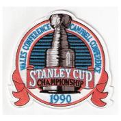 1990 NHL Stanley Cup Patch Edmonton Oilers vs. Boston Bruins