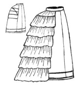 1869 - 1875 Grand Bustle Sewing Pattern