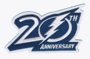 2012 2013 Tampa Bay Lightning 20th Anniversary Logo Jersey Patch
