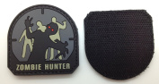 Zombie Hunter Matrix PVC Patch - High Quality PVC Rubber Grey and Black