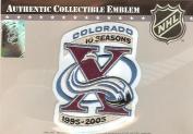 Colorado Avalanche 10th Anniversary Patch