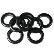 #10 Plastic Grommet, 3.5cm , 8 Sets, BLACK