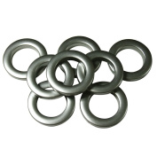 #10 Plastic Grommet, 3.5cm , 8 Sets, BRUSHED STEEL