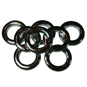 #10 Plastic Grommet, 3.5cm , 8 Sets, CHROME