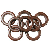 #10 Plastic Grommet, 3.5cm , 8 Sets, DARK WOOD