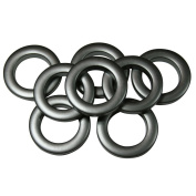 #10 Plastic Grommet, 3.5cm , 8 Sets, MATTE NICKEL