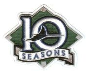 2007 Tampa Devil Rays 10th Anniversary Patch