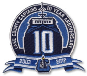 2012 Lake County Captains 10th Year Anniversary Patch