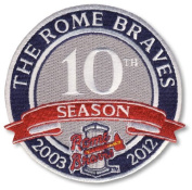 2012 Rome Braves 10th Anniversary Season Patch