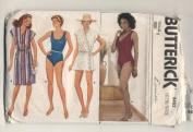 Butterick 6462 One Piece Swin Suit and Cover Up Sewing Pattern