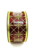 Jo-ann's Holiday Inspirations Burgundy Royal Glitter Ribbon,gold Glitter,3.8cm x 12ft.