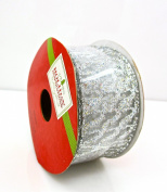 Jo-ann's Holiday Inspirations Glitter Silver Ribbon,3.8cm x 12ft.
