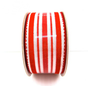 Jo-ann's Holiday Inspirations Red/white Stripe Ribbon,3.8cm x 12ft.