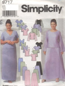 Simplicity Pattern #9717 - Women's Evening Tops, Slim and Flared Skirts