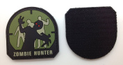 Zombie Hunter Matrix PVC Patch - High Quality PVC Rubber Green and Black