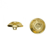 C & C Metal Products 5024 Devonshire Metal Button, Size 30 Ligne, Gold, 36-Pack