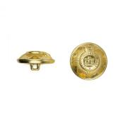 C & C Metal Products 5024 Devonshire Metal Button, Size 30 Ligne, Gold, 36-Pack