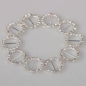 2013newestseller New 30pcs Heart Rhinestone Ribbon Buckles Sliders