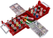 Home-X Compact Foldaway Sewing Box with Over 140 Accessories