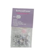 Buttons2Cover Crafter's Starter Pack Cover Buttons Size 20 (1.3cm ) Wire Back
