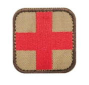 Condor 50mm Tactical hook and loop Medic Patch - Tan / Red