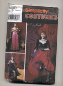 Simplicity Can Can Dance Hall Girl Bodice, Skirt, Bloomers, Dress Costume Sewing Pattern #9899