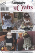 Simplicity Crafts Walnut Creek Collection Kneeling Doll and Clothes Sewing Pattern # 9005