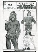 Stretch & Sew Pattern 399 ~ Ladies' Drawstring Bigshirt & Jacket ~ Bust 30-46