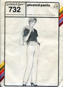 Stretch & Sew Pattern 732 ~ Ladies' Pleated Pants / Slacks ~ Hip 32-48
