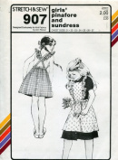 Stretch & Sew Pattern 907 ~ Girls' Pinafore and Sundress ~ Chest 21-27