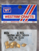 Westrim Craft Trim NAIL HEADS Pack of 8 Gold Colour 7 mm & 10 mm Sizes