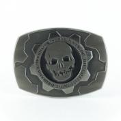 Gears of War Cogtag Silver Metal Buckle