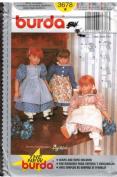 Burda Pattern 3678 Doll Clothing Sizes 18? Doll Through 26? Doll American Girls