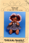 "DREAM BABIES 36cm ""Precious Baby Holly Bear"" & Her Clothes #226"