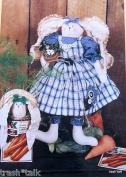 Homestead Hattie Bunny Rabbit Pattern 36cm Doll w/ Clothes From Bear Thread Designs